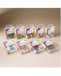 DRDRAWING PINS ESSELTE ASST COLOURS PK100