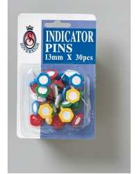 INDICATOR PINS SOVEREIGN 13MM ASST PK30