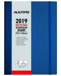 DIARY 2019 MILFORD ALUMINIUM A5 DTP 30MIN APPOINT 8AM-5.30PM BLE