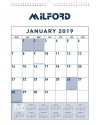 CALENDARS 2019 MILFORD 295X422MM MONTH TO VIEW