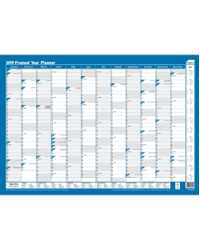 PLANNER 2019 SASCO FRAMED 1000MMx700MM 10588 YEAR TO VIEW BLUE