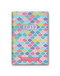 MONTHLY PLANNER 2019 ORANGE CIRCLE 114X165MM KALEIDOSCOPE NO APP