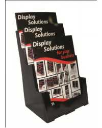 BROCHURE HOLDER DEFLECT-O A4 3 TIER SUSTAINABLE OFFICE