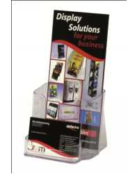 BROCHURE HOLDER DEFLECT-O DL WITH BUSINESS CARD HOLDER