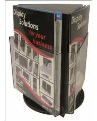 BROCHURE HOLDER DEFLECT-O 3XDL COUNTER TOP ROTATING BLACK