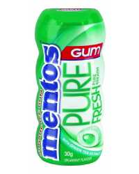 GUM MENTOS 30G PURE FRESH SPEAR MINT GREEN BX10