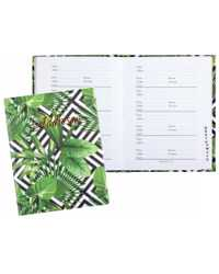 ADDRESS BOOK CUMBERLAND 130X100MM GREEN FOLIAGE CASEBOUND 72LF