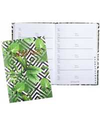 ADDRESS BOOK CUMBERLAND 190X130MM GREEN FOLIAGE CASEBOUND 72LF