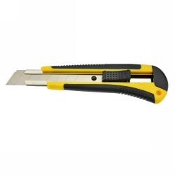CUTTING KNIFE ITALPLAST 18MM PREMIUM YELLOW