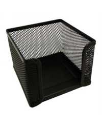 MEMO CUBE HOLDER ESSELTE METAL MESH BLACK