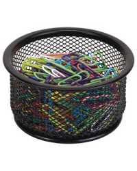 PAPER CLIP HOLDER ESSELTE METAL MESH BLACK