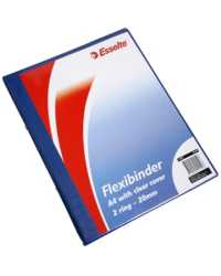 BINDER FLEXI ESSELTE A4 2R 20MM W/CLEAR COVER BLUE