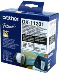 LABEL BROTHER DK11201 WHITE ADDRESS 29 X 90MM 400 PER ROLL