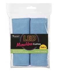 CLOTH LED QUARTET LINT FREE MICROFIBRE PK2