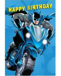 CARD BIRTHDAY VALUE A200 BOYS BATMAN PK10