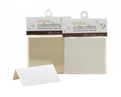 WEDDING PLACE CARDS ME DELUXE WITH METALLIC FINISH IVORY