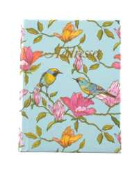 ADDRESS BOOK C/LAND 130X100MM CASEBOUND BLUE BIRD 72LF