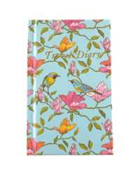 TRAVEL DIARY C/LAND 170X105MM CASEBOUND BLUE BIRD 72LF