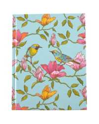 NOTEBOOK C/LAND A5 CASEBOUND BLUE BIRD RULED 100LF