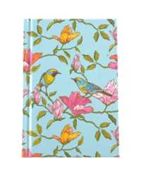 NOTEBOOK C/LAND A6 CASEBOUND BLUE BIRD RULED 100LF