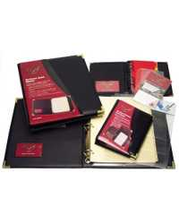 BUSINESS CARD BINDER WATERVILLE A5 BLACK 240 CAP W84-240