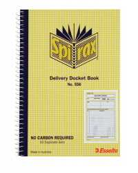 DELIVERY BOOK SPIRAX 556 S/O 50 SETS C/LESS 207x144MM PK10