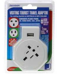 TRAVEL ADAPTOR INBOUND VISITOR+USB SUITS FROM USA,HK,JAP,EU & MO