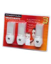 NIGHTLIGHTS POWERTOUGH LED VALUE PACK 3
