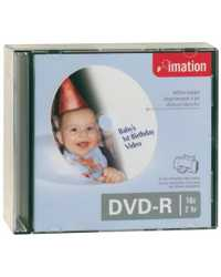 DVD-R IMATION 120MIN 16X 4.7GB PRINTABLE SLIM JEWEL CASE PK10