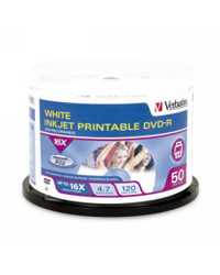 DVD-R VERBATIM 4.7GB WHITE INKJET PRINTABLE PK50