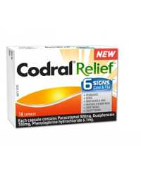 CODRAL RELIEF JOHNSON & JOHNSON 6 SIGNS CAPSULES 16'S