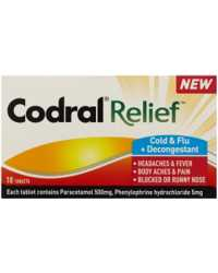 CODRAL RELIEF JOHNSON & JOHNSON COLD & FLU 10'S
