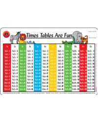 PLACEMAT KIDS TIMES TABLE