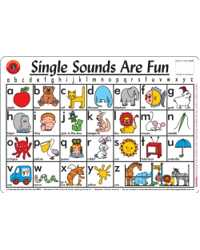 PLACEMAT KIDS SINGLE SOUNDS ARE FUN