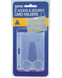 CARD HOLDER ACCESS & SECURITY KEVRON ID18 WITH RING CLEAR PK2
