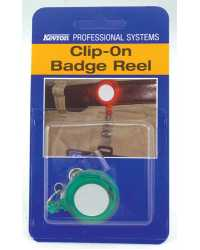 BADGE KEVRON CLIP ON REEL ASST