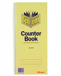 COUNTER BOOK SPIRAX 544 S/CASH PK10