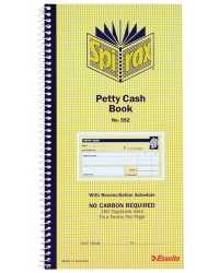 PETTY CASH BOOK SPIRAX 552 C/LESS DUP279x144MM PK10