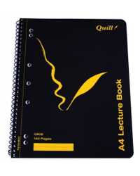 LECTURE BOOK QUILL A4 Q906 SIDE OPEN  PK10