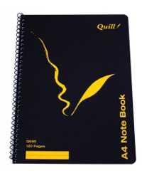 NOTE BOOK QUILL Q595 A4 SPIRAL STUDENT PK10