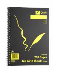 GRID BOOK QUILL Q595G A4 5MM 200PG PK5