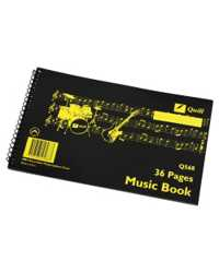 MUSIC BOOK QUILL Q568 SPIRAL S/O 6 STAVE 18LF PK10