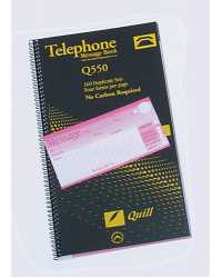 TELEPHONE MESSAGE BOOK QUILL Q550 80LF PK5