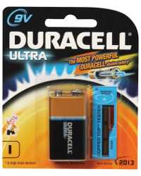 BATTERY DURACELL ALK 9V BP1