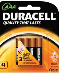 BATTERY DURACELL ALK AAA 4