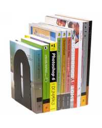 BOOKENDS ROUNDED HEAVY DUTY PAIR BLACK