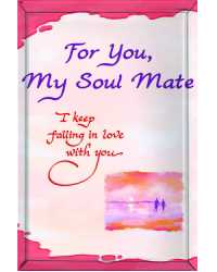 PLAQUE SMALL FOR ART SAKE 80X120MM SOUL MATE