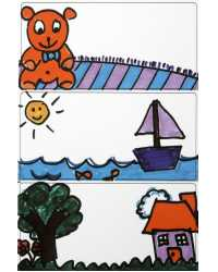 STICKERS AVERY PRINT OR WRITE KIDS CRAYONS