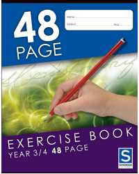 EXERCISE BOOK SOVEREIGN 225X175MM YEAR 3/4 RULED 48PG PK20
