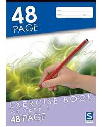EXERCISE BOOK SOVEREIGN A4 YEAR 1 RULED 48PG PK20